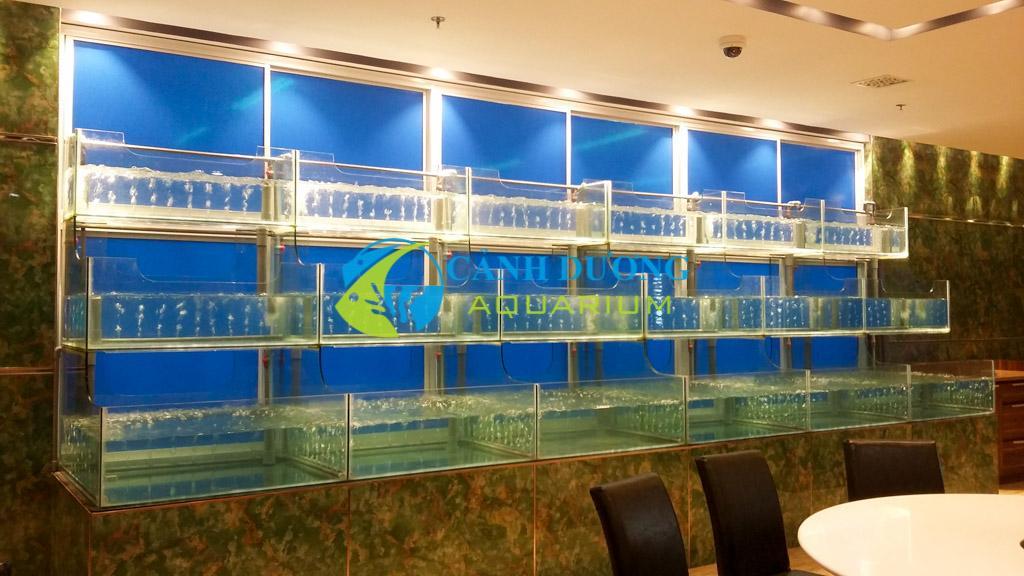 Hồ hải sản, dàn chứa hải sản do Cảnh Dương thi công